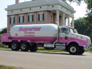 Superior Propane's new pink delivery truck is not only raising awareness, but also money for the Canadian Breast Cancer Foundation.