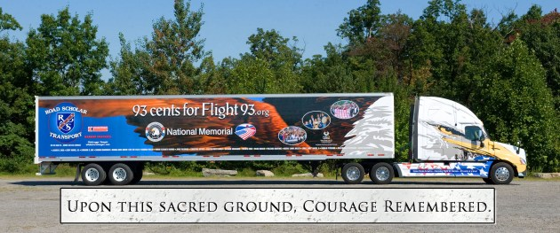 This specially-designed tractor-trailer will be on US highways over the next five years, raising money for a pemanent memorial for the victims of Flight 93.