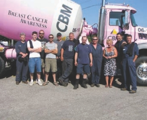 PRETTY IN PINK: A plant fire did not dampen Delta Spring and Chassis' plans to celebrate its customers. A customer appreciation day went ahead as planned, benefiting a local breast cancer centre.