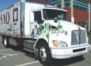 PUT TO THE TEST: FPInnovations will test the fuel-saving potential of this Kenworth hybrid.