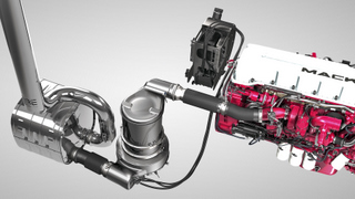 Mack's ClearTech EPA2010 emissions solution featuring selective catalytic reduction (SCR).