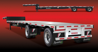 This Fontaine Revolution dropdeck trailer weighs in at just 9,300 lbs, the company says.