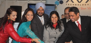 MAJOR CELBRATION: Taking part in the festivities, from left to right were: Mala Singh (Sama Model and Talent Agency); Dr. Ruby Dhalla (Member of Parliament-Brampton Springdale); Vicky Dhillon (City Councillor, Brampton); Avnit Nagra (Avaal Technology Solutions); Harinder Takhar (Minister of Government Services, Province of Ontario); and Dara Nagra (CEO Avaal Technology Solutions).