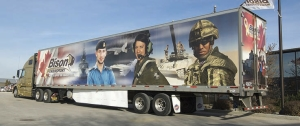 Bison Transport Honours Armed Forces With Trailer Tributes