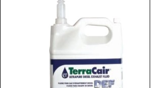 PERFECT PACKAGING?: TerraCair DEF comes in packaging that includes a plastic nozzle to ensure the product is not compromised when it's poured into the truck's DEF tank.