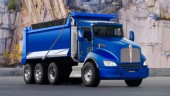 The new natural gas-powered Kenworth T440 in dump truck configuration.
