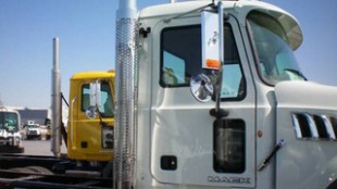 A cab-mounted exhaust set-up is now available on Mack Granites.