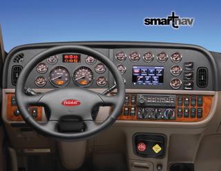 The SmartNav system will be standard on Peterbilt trucks with Premium level interiors.