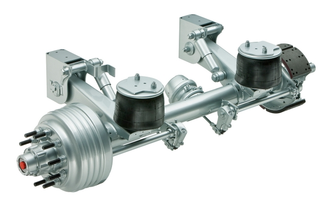 The first model of the new Meritor Trailing-Arm Air (MTA) suspension series, the MTA23, is slated to begin production this fall.