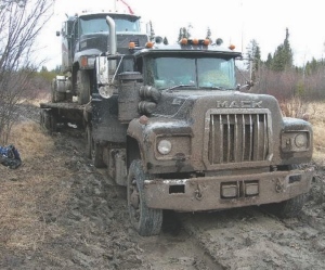 MELTDOWN: The sudden thawing of Manitoba's winter road network left drivers stranded -and northern communities without access to vital supplies.