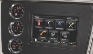 ANOTHER PLUS: Kenworth's new NavPlus infotainment system combines work tools like truck-specific GPS with entertainment options such as integrated satellite radio.