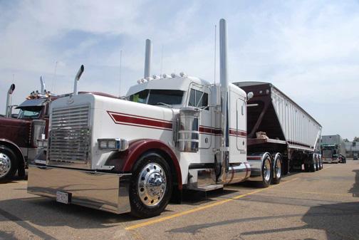 Curtis Wright's Peterbilt was one of three trucks that won a spot in the 2011 Wowtrucks calendar.