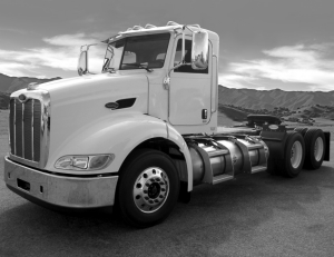 READY TO ROLL: Natural gas-powered trucks, like this Pete Model 384 LNG are already in production. Now, all that's needed is the fuel.