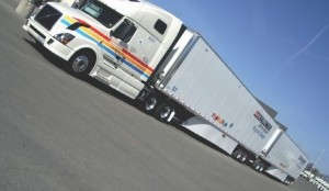 GOING LONG: Challenger has purchased 300 new Stoughton trailers, with 300 more to come later this year, in an effort to bolster its long combination vehicle (LCV) fleet. Two LCV configurations are now on Ontario roads, while the remainder will be deployed in Western Canada.