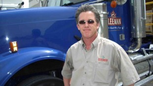 David Joyce runs the oldest truck in the fleet but keeps it in showroom condition.