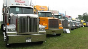 The polished Sleeman fleet won Best Fleet 3+ Tractor Only.