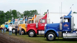 Crowd-pleaser: When displayed at the truck show, the Sleeman fleet attracts a crowd.