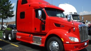 Peterbilt's new Model 587 recently rolled through Ontario as part of the company's North America-wide tour.