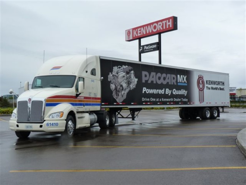 The Kenworth T700 and Paccar MX have been well-received in Canada, officials say.