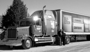 Never been towed: Howard Brouwer runs an older truck, a 2001 Western Star, but meticulous maintenance has kept it from breaking down on the road.