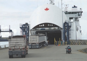 VITAL LINK: Many aggregate haulers and other transport companies prefer the ferry service to the Confederation Bridge.