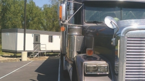 WHAT ABOUT THE MIRRORS?: When parked in his space, driver James Garvin said his mirrors overhung the line.