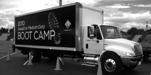BOOT CAMP: This International DuraStar was driven by sales reps who also had the chance to compare it to competitive models.