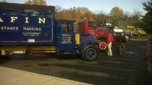 A spectacular collection of antique Mack trucks were in display at the grand opening.