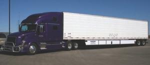 AERO TRAILER: Greg Decker pulls a Utility trailer with Windyne Flex Fairing side skirts he retrofitted last year.
