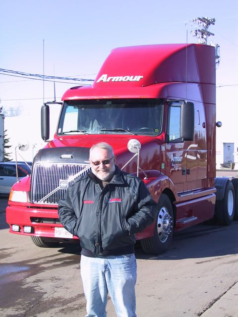 Armour driver Georges LeBlanc has accomplished a remarkable feat, running four million miles without an accident.