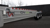 CN has developed a fuel-efficient container chassis that's lightweight and uses wide-base tires and trailer skirts.