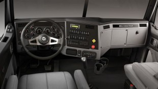 The Western Star 4700 comes with a luxurious interior that may seem out of place at some job sites.