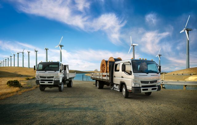 The new Fuso Canter comes in several configurations, including an extended cab.