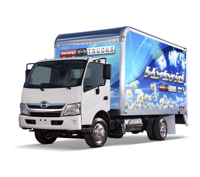 Hino's new cabovers are designed specifically for the North American market. A hybrid-electric version offers further fuel economy gains.