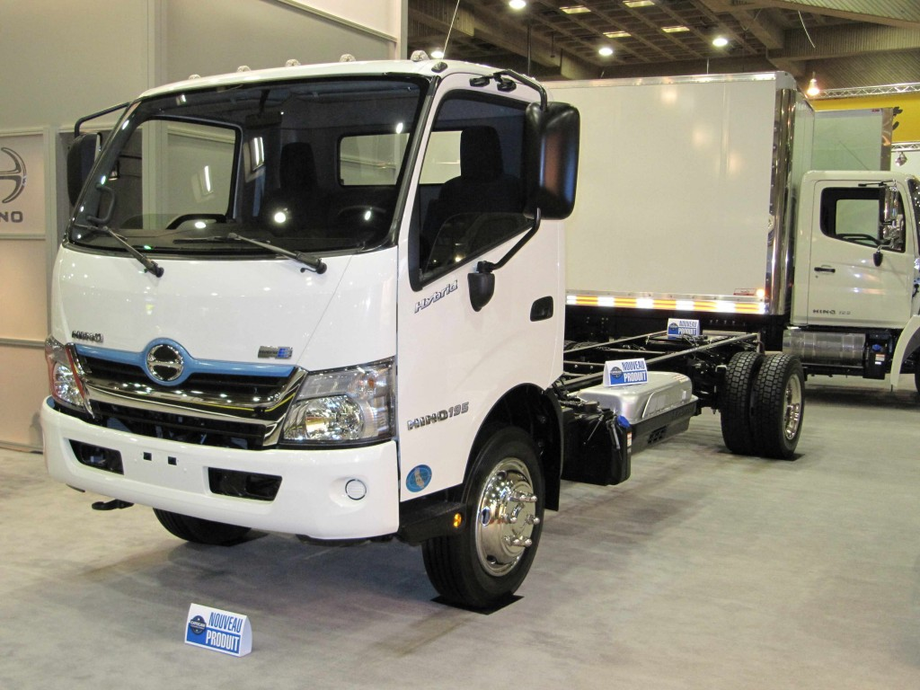 Hino unveiled its new 2012 Hino 195h Hybrid Class 5 truck chassis for the Canadian market at the ExpoCam truck show in Montreal last week.