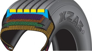 A dual compound tread design allows Michelin to maximize tread life and fuel efficiency.