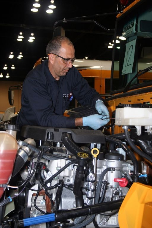 Quebec-based service technician Luc Ouellet walked away with the Top Service Technician Award at the 2011 Navistar Service-Technician Rodeo last month.