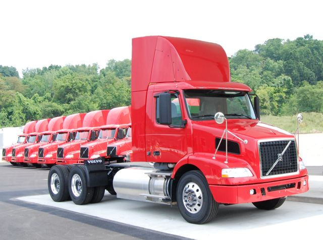 A Volvo VNM powered by compressed natural gas.