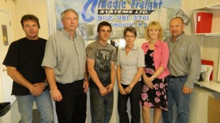 The office staff at Classic Freight Systems.