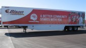 Bison's new United Way trailer will be deployed into its fleet following a ceremony this afternoon in Winnipeg.