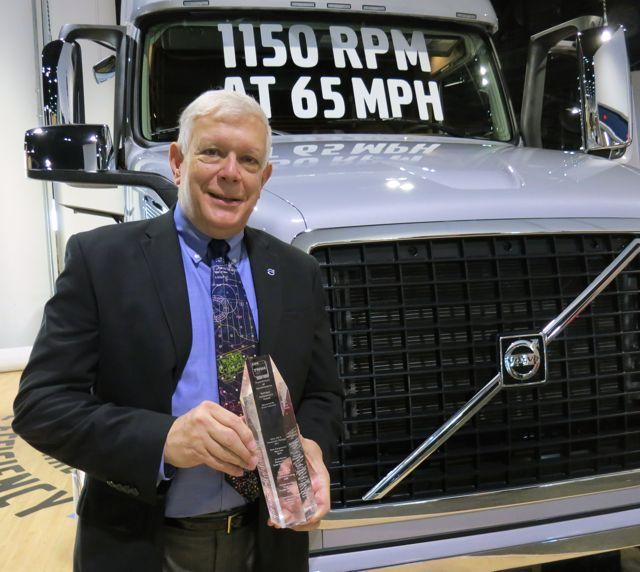Ed Saxman with the TWNA Technical Achievement Award.