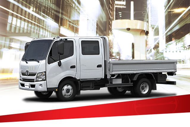 Hino's new 195 cabover engine crew cab.