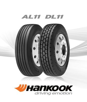 Hankook will be supplying its AL11 steer and DL11 drive tires for Freightliner starting in May.