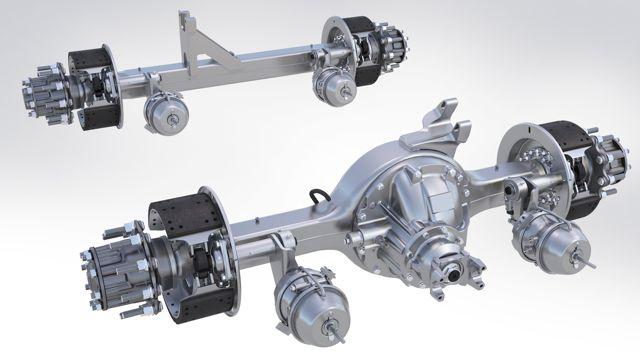 Meritor's new FUELite tandem suspension.