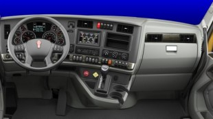 A look at the dash of the Kenworth T680.