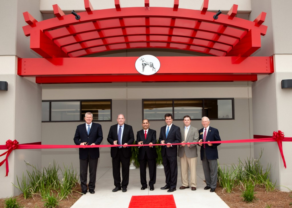 Great Dane executives and local leaders officially cut the ribbon on the company's new refrigerated trailer plant in Statesboro, Ga.