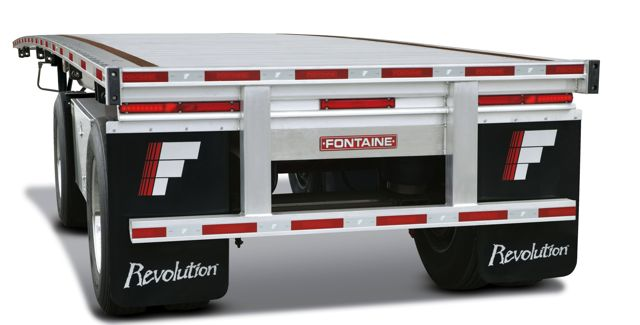 Fontaine says its Revolution flatbed trailer is getting up to 3% better fuel economy than previous designs.