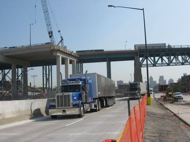 Trucks crossing the border into Detroit now enjoy quicker access to the freeway.