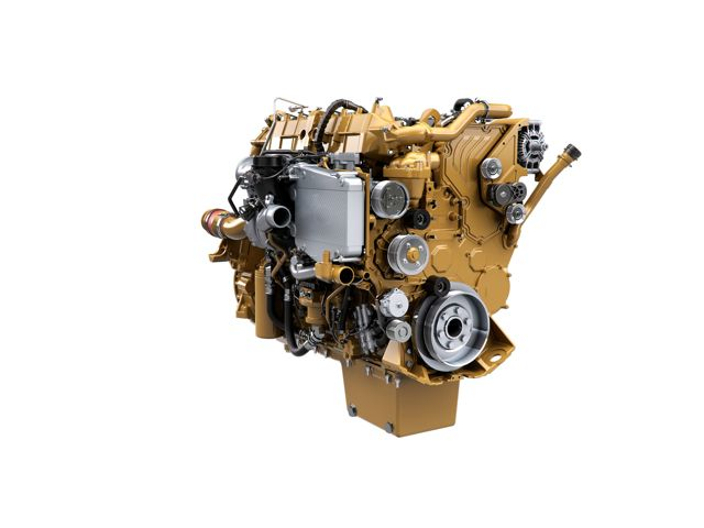 The CT15 engine from Caterpillar provides higher horsepower and torque for rigorous construction applications.