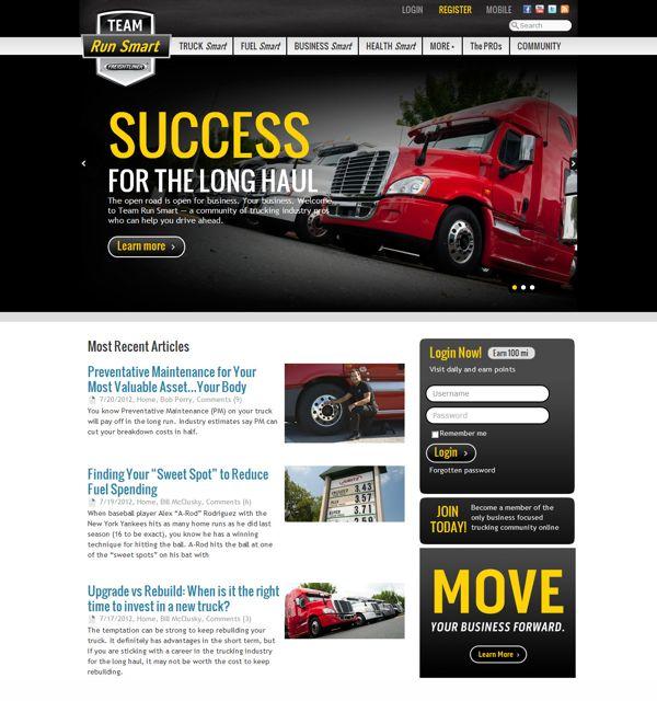 The Team Run Smart Web site.